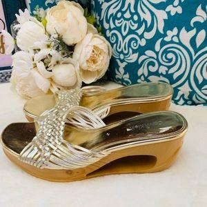 Calvin Klein Metallic Gold  Sandal